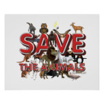 TEE Save The Animals Poster