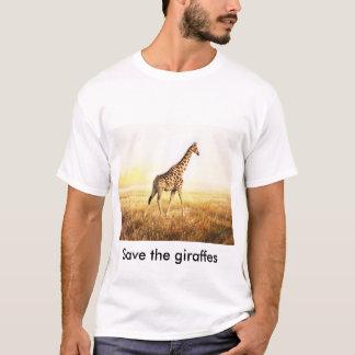 """Tee-shirt 100% cotton - """"Save the giraffes"""" - T-Shirt"""