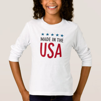 Tee-shirt BASIC A Sleeves Long line the USA T-Shirt