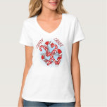TEE SHIRT CANDY CANES WOMENS at Zazzle