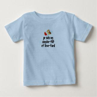 """tee-shirt """"early bedder, late riser """" baby T-Shirt"""