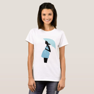 Tee-shirt expectant mother with the umbrella T-Shirt
