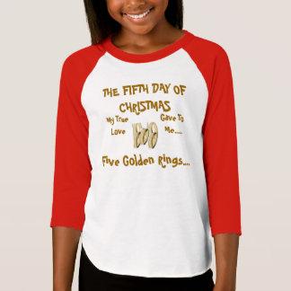 TEE SHIRT FIFTH DAY OF CHRISTMAS