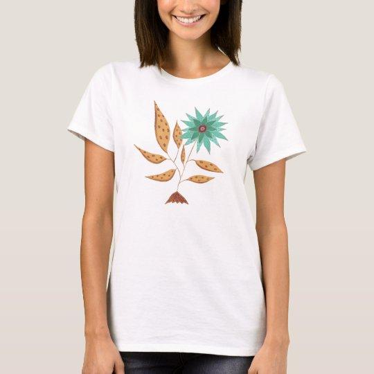 tee-shirt flower artisanal painting T-Shirt