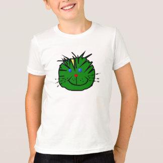 """Tee-shirt for child """"mischievous green Cat """" T-Shirt"""