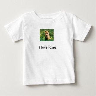 "Tee-shirt fox cub ""I coils foxes "" Baby T-Shirt"