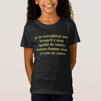 tee-shirt girl equality T-Shirt