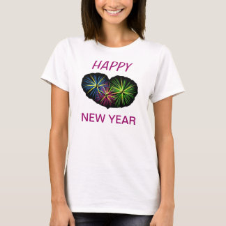 TEE SHIRT  HAPPY NEW YEAR 2013  RED AND GOLD