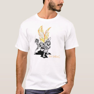 tee-shirt man Wolf design by ambi. G T-Shirt