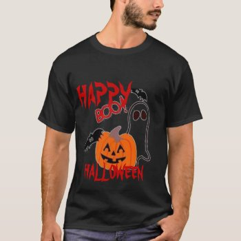 Tee Shirt Mens Boo  Tee Halloween by creativeconceptss at Zazzle
