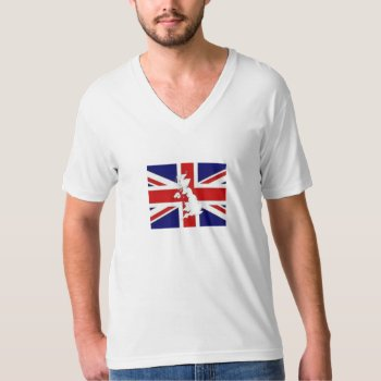 Tee Shirt Mens Britain Flag by creativeconceptss at Zazzle