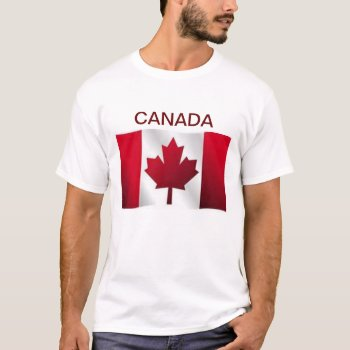 Tee Shirt Mens Canada Flag Red And White by creativeconceptss at Zazzle