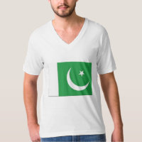 TEE SHIRT MENS PAKISTAN FLAG GREEN AND WHTIE
