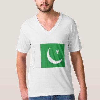 TEE SHIRT MENS PAKISTAN FLAG GREEN AND WHTIE