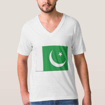 Tee Shirt Mens Pakistan Flag Green And Whtie by creativeconceptss at Zazzle