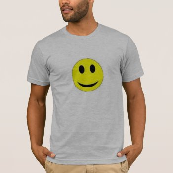Tee Shirt Mens Smiley Face Mens Tee by creativeconceptss at Zazzle
