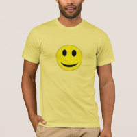 TEE SHIRT MENS  SMILEY FACE YELLOW  AND LEMON YELL