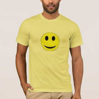 Tee Shirt Mens  Smiley Face Yellow  And Lemon Yell by creativeconceptss at Zazzle