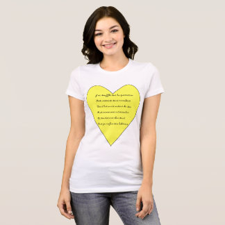 Tee-shirt musical poem and heart and mandala T-Shirt