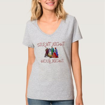 Tee Shirt Nativity Scene Grey by CREATIVEHOLIDAY at Zazzle