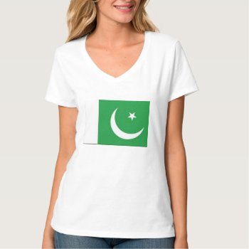 Tee Shirt Pakistan Flag Womens by creativeconceptss at Zazzle