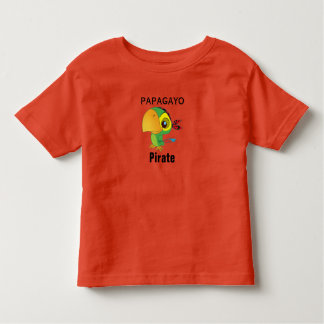 tee-shirt pirates papagayo parrot toddler t-shirt