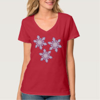 TEE SHIRT snow flakes