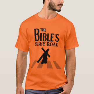 """Tee-shirt """"The Bible' S Obey Road """" T-Shirt"""