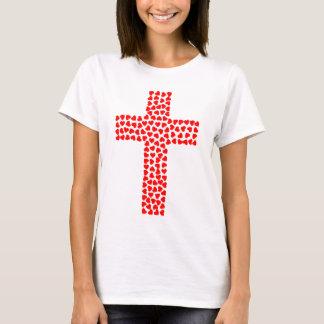 Tee-shirt with cross made up of heart T-Shirt