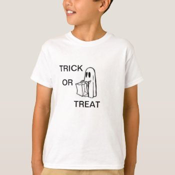Tee Shirt  With Ghost by CREATIVEforKIDS at Zazzle