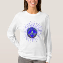 """TEE-SHIRT WOMAN Design """"Mandala the Blue Queen """" T-Shirt"""