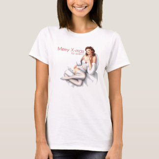 tee-shirt woman merry chrismas design by ambi. G T-Shirt
