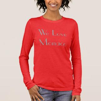 "Tee-shirt Woman ""We Love Monaco "" Long Sleeve T-Shirt"