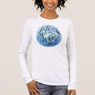 Tee-shirt Woman White Long Sleeves Surfing Long Sleeve T-Shirt
