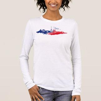 Tee-shirt Woman White Paris Handles Long Sleeve T-Shirt