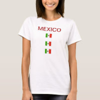 TEE SHIRT WOMEN RED WHITE GREEN MEXICO