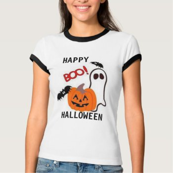 Tee Shirt Womens Boo  Tee Halloween by CREATIVEforKIDS at Zazzle