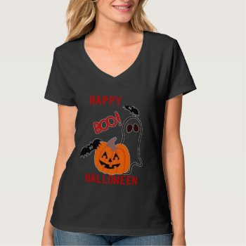 Tee Shirt Womens Boo  Tee Halloween by creativeconceptss at Zazzle