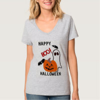 TEE SHIRT WOMENS BOO  TEE HALLOWEEN