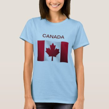 Tee Shirt Womens Canada Flag by creativeconceptss at Zazzle