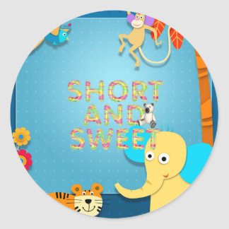 TEE Short and Sweet Classic Round Sticker