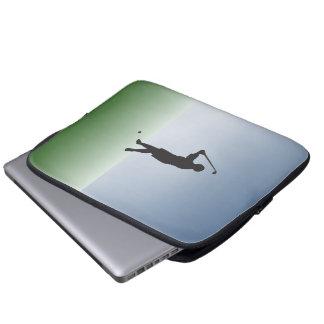 Tee Shot Female Golfer Laptop Sleeve