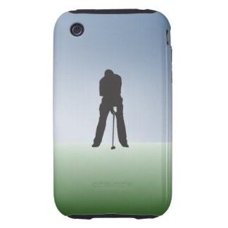 Tee Shot Male Golfer iPhone 3 Tough Cases