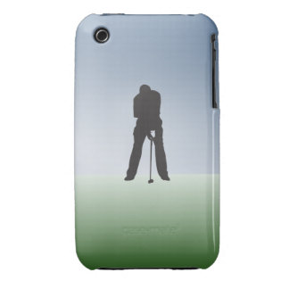 Tee Shot Male Golfer iPhone 3 Case-Mate Cases