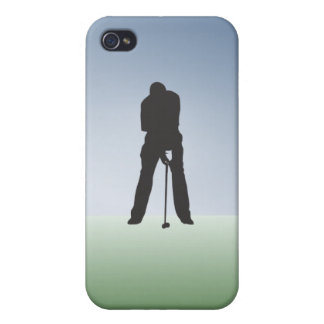 Tee Shot Male Golfer Covers For iPhone 4