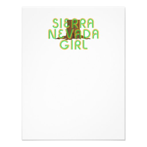 TEE Sierra Nevada Girl Personalized Announcement