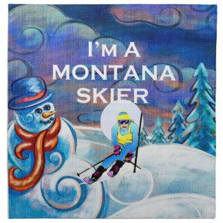 TEE Ski Montana Cloth Napkin