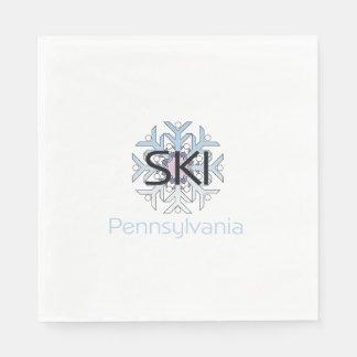 TEE Ski Pennsylvania Paper Napkin