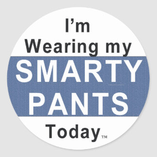 TEE Smarty Pants Classic Round Sticker