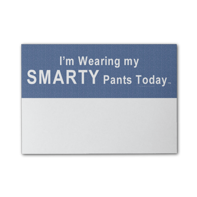 TEE Smarty Pants Post-it� Notes